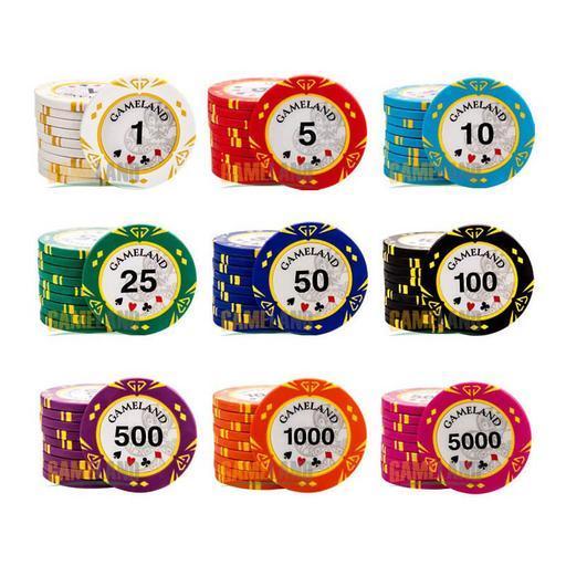Có nhiều giá trị khác nhau trên các phỉnh poker