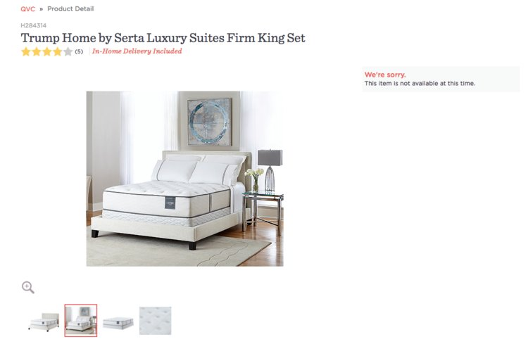 Serta, the giant mattress company which sold Trump mattresses, stopped selling Trump Home products for the same reason as Macy's and PVH.