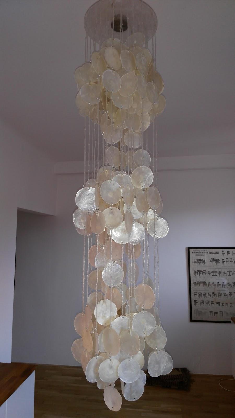 Capiz vintage chandelier