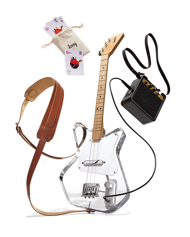 Loog Pro Lucite Electric Guitar Set
