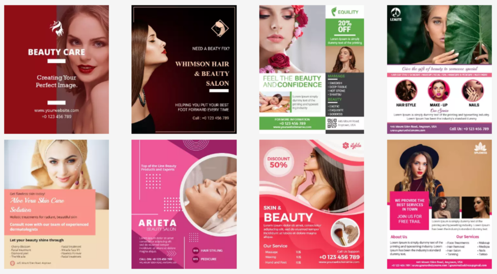 Beauty Parlour Flyer