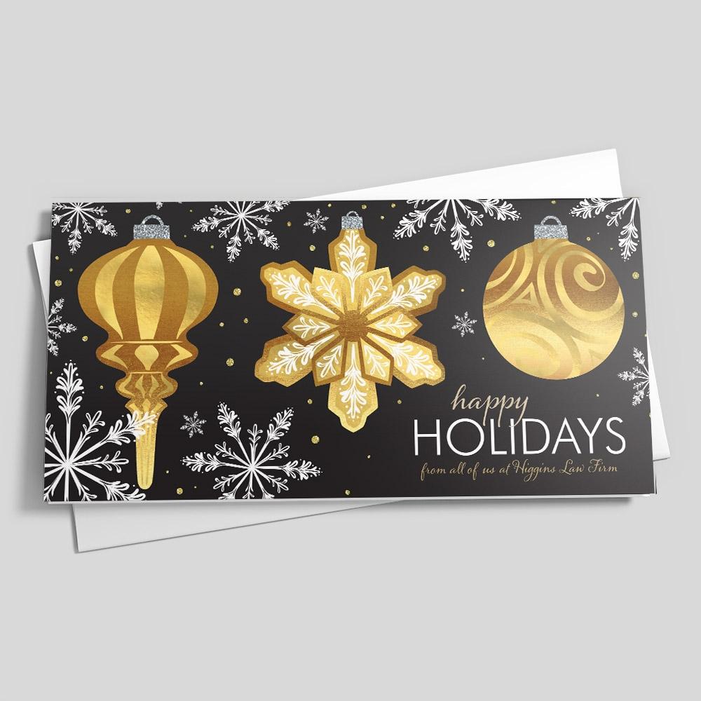 金色聖誕卡