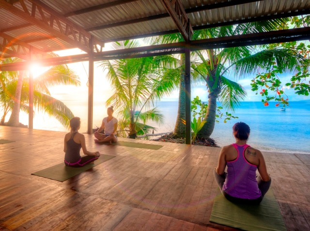 yoga at playa nicuesa rainforest lodge
