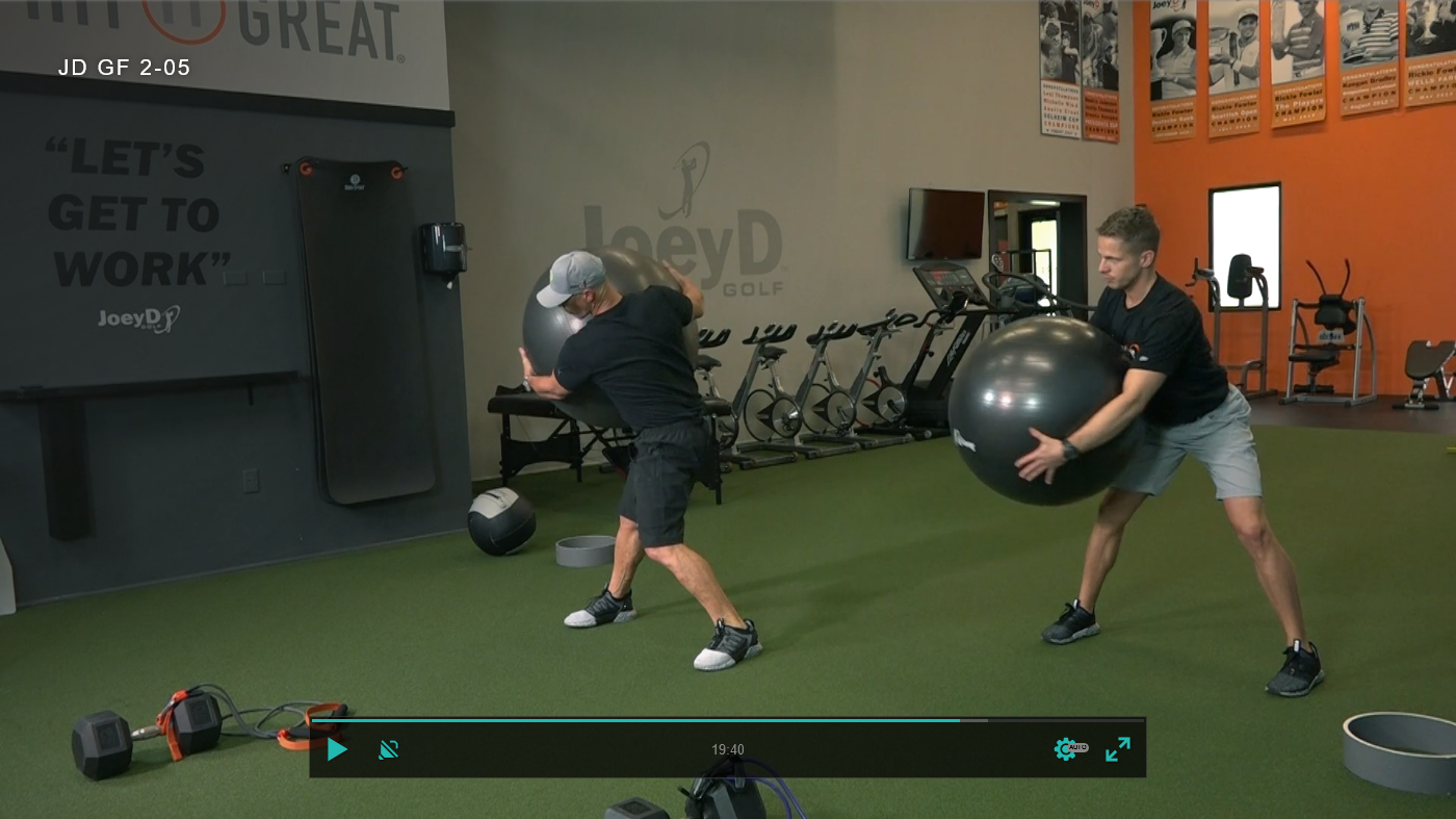 exercise ball drills