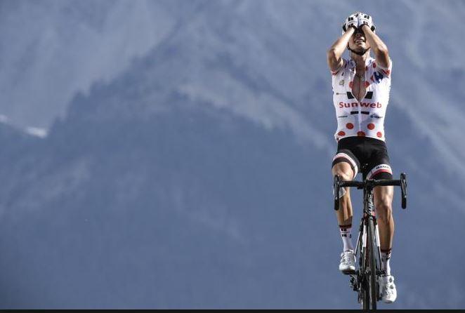 Bicycle climb Col d'Izoard from Briancon - Warren Baruguil wins 2017 TdF Stage 18