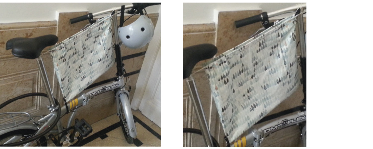 bolsa para bici plegable, se puede guardar debajo del asiento.  35x48 cm , para bicis plegables, o sin travesaño, se guarda bajo sillín. Entra una por pliego.