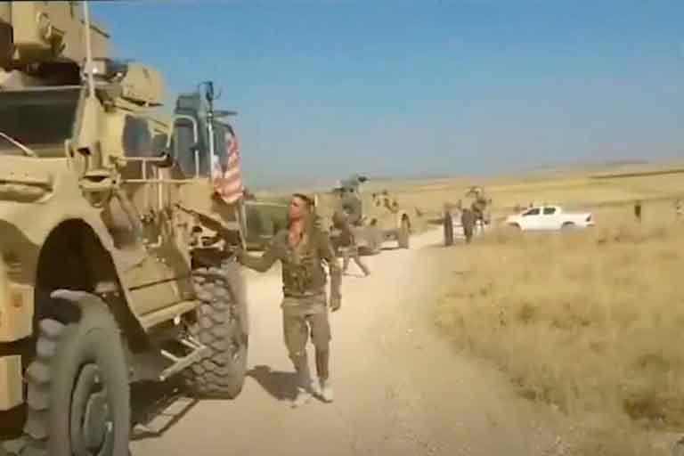 Проехали на дурака: Американские военные устроили за собой погоню - видео