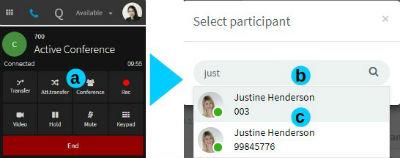 Deelnemers toevoegen via de 3CX Web Client