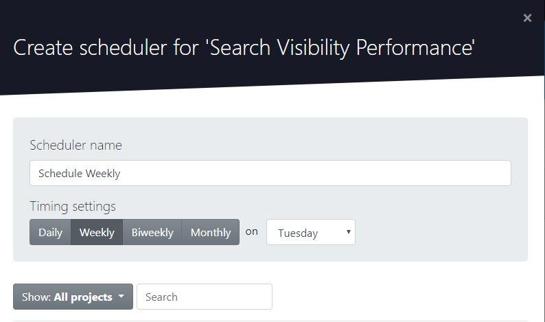 Create scheduler on Advanced Web Ranking