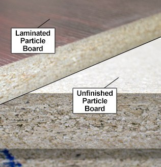 RightAngle Laminated vs. Unfinished Particle Board