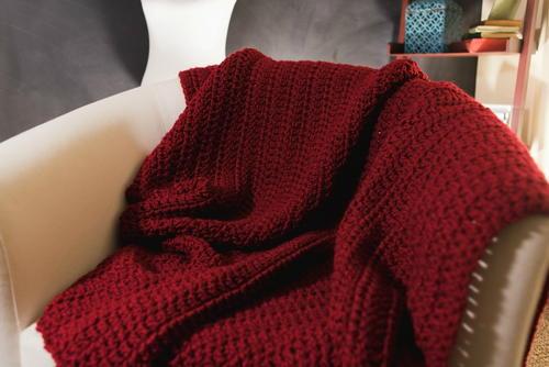 Quick and easy afghan beginner crochet blanket pattern