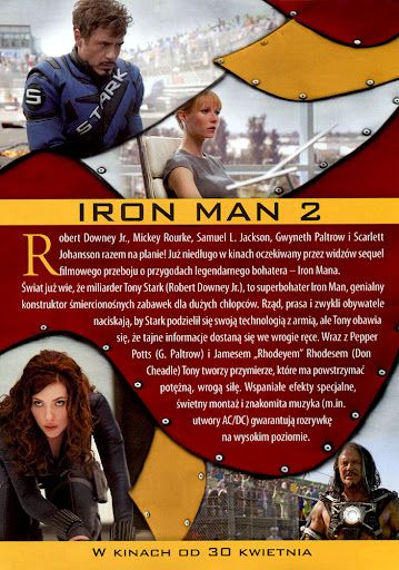 Tył ulotki filmu 'Iron Man 2'