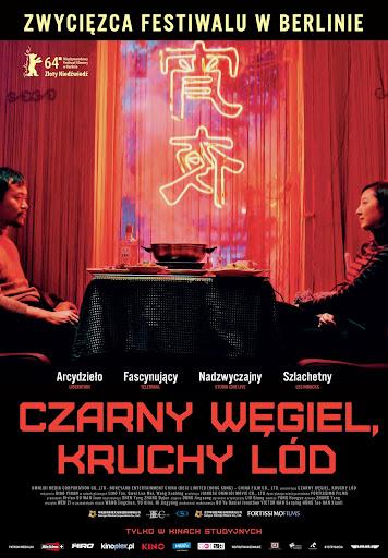 Polski plakat filmu 'Czarny Węgiel, Kruchy Lód'