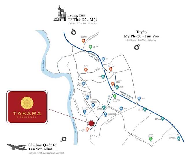 Dự án takara residence quy hoạch tại Thủ phủ công nghiệp phía Nam