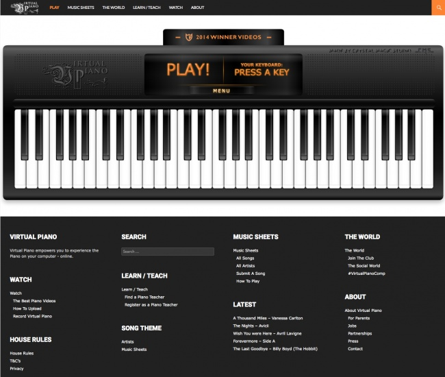 Una oportunidad genial para tocar el piano con ayuda de tu computadora.