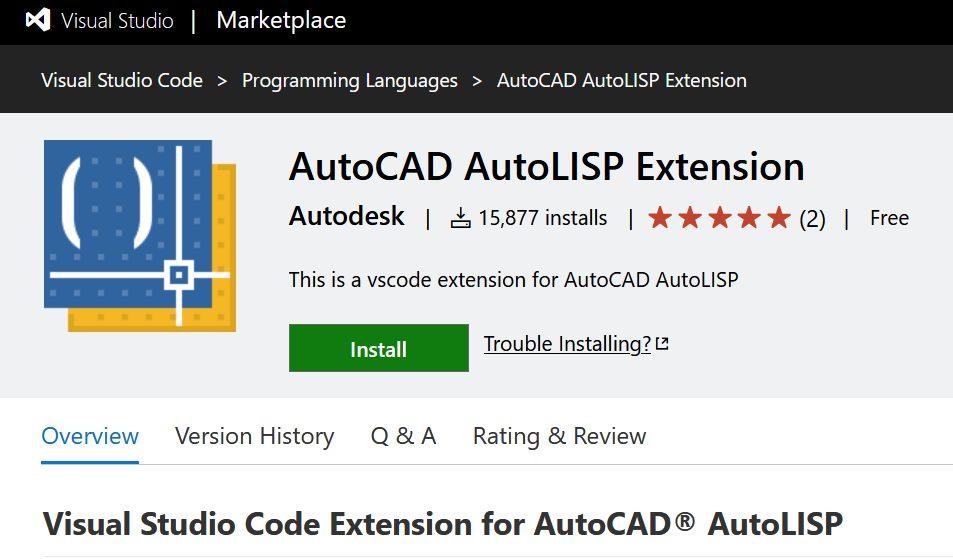 Visual Studio Code Extension for AutoCAD AutoLISP