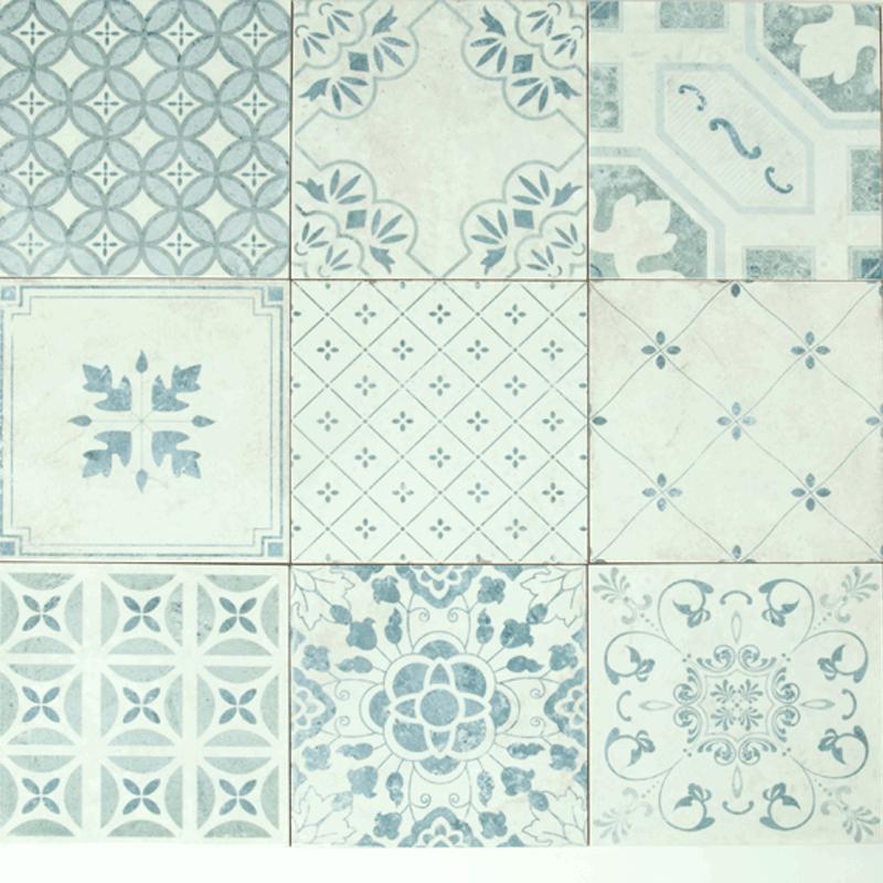 Vintage padló csempe konyhába -