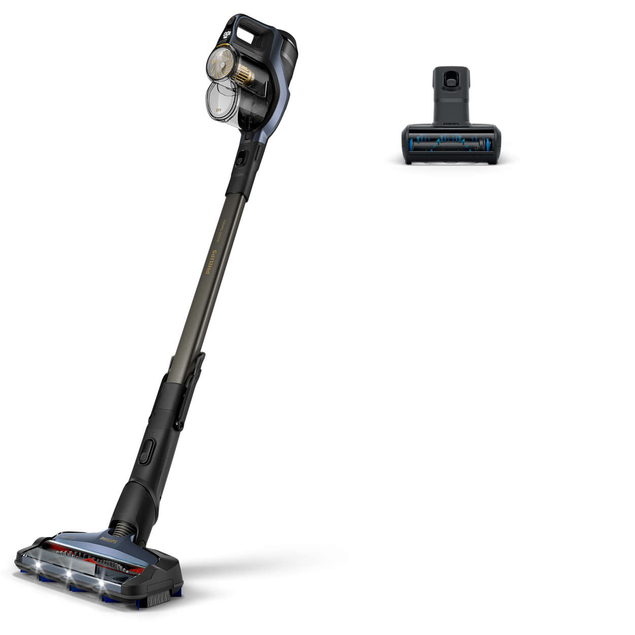 The compact Philips Vacuum Cordless cleaner saves both space and energy with its ergonomic design Source: Lazada.com