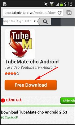 Tubemate for android mobile phones - Download tubemate 2 2 6