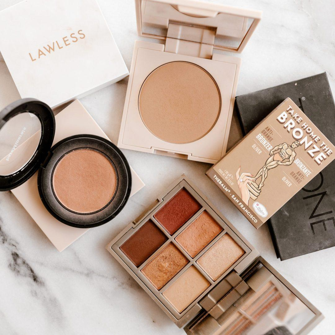 various makeup compacts by thebalm and lawless