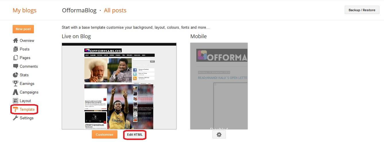 How to Remove Footer Credit Link from Premium Blogger Template