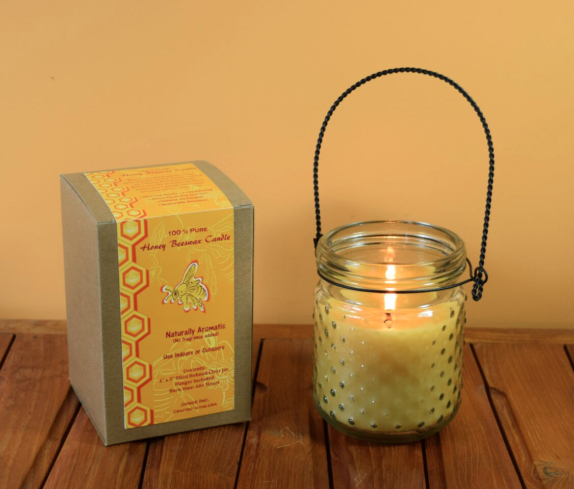 100% Natural beeswax candles