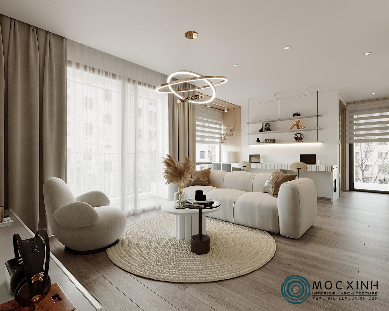 Thiết kế phòng khách chung cư đầy sang trọng tinh tế