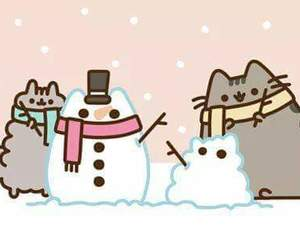 Image result for snow man pusheen