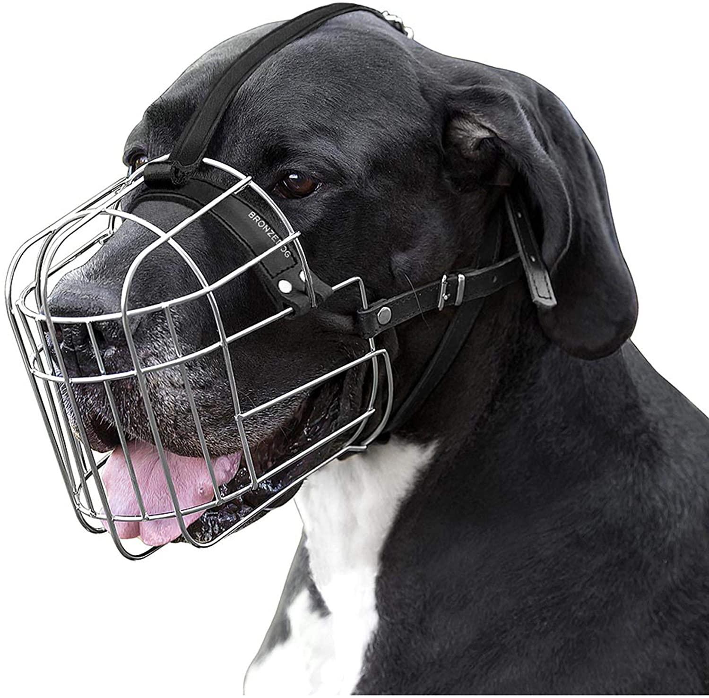 BronzeDog Metal Wire Basket Dog Muzzle