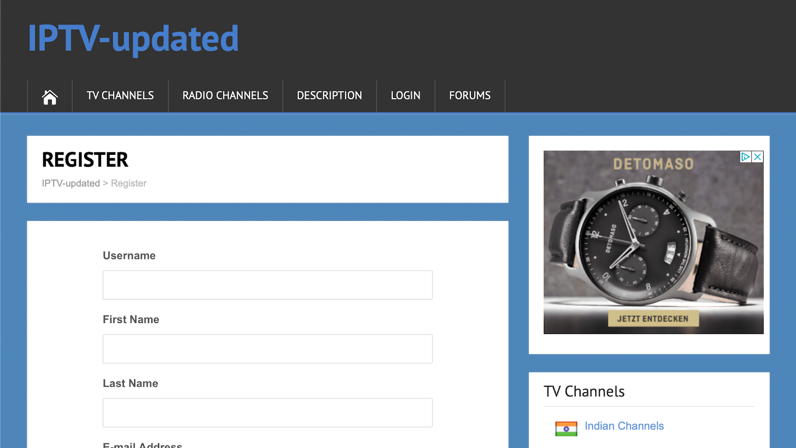 how to register in IPTV_updated.com