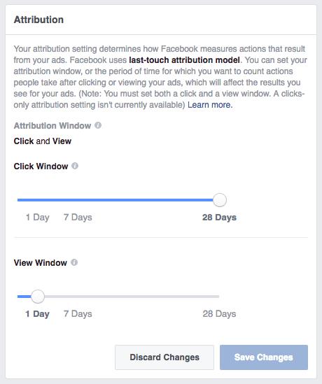 Facebook attribution window