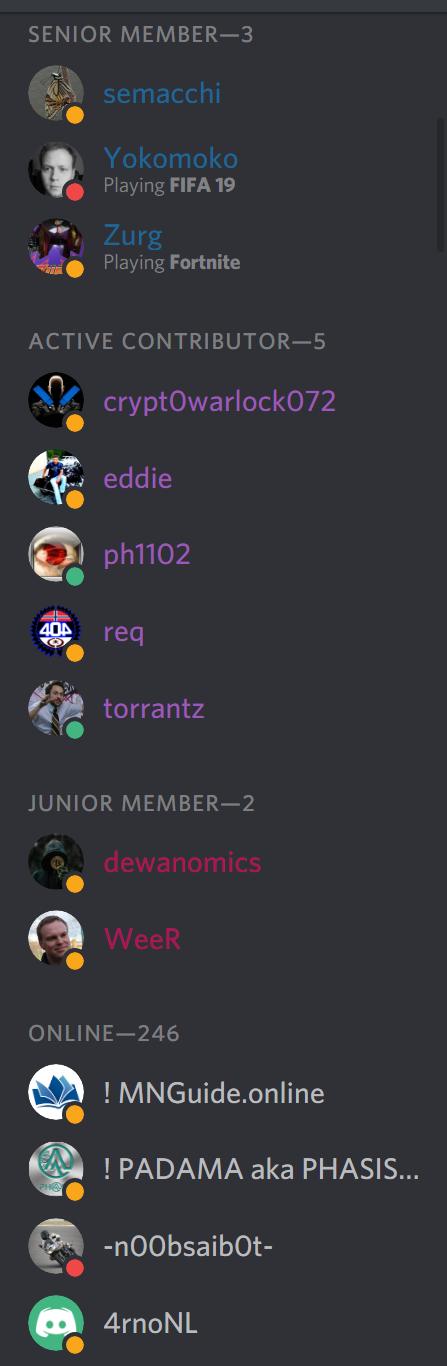 Discord Rankings