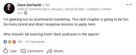 dave gerhardt podcast cmo audio marketing