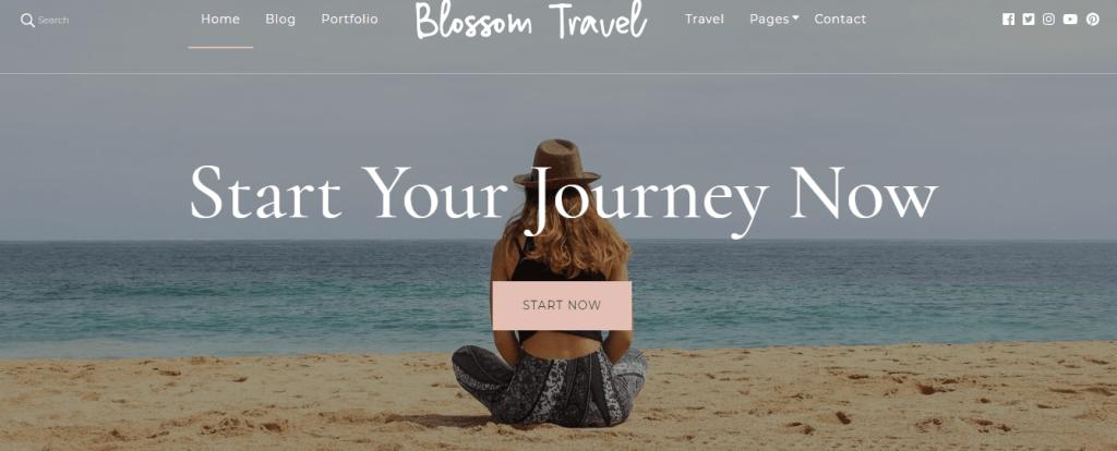 Blossom Travel theme free