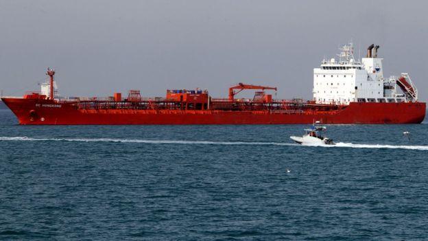 Китайский танкер в Иране