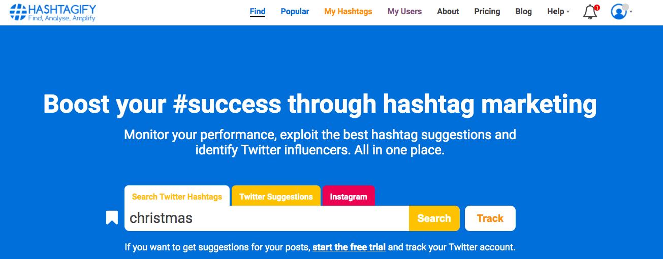 Hashtagify Hashtag Generator Tool