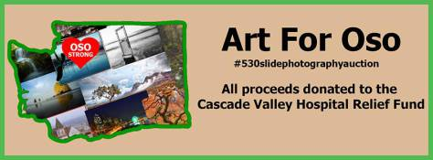 "Facebook group ""Art For Oso"" creating fundraisers for #OsoStrong to help with mudslide relief efforts in Oso and Darrington in the state of Washington"