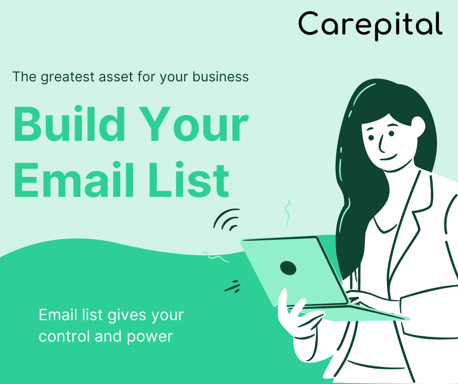 How to start business online: build website and email list