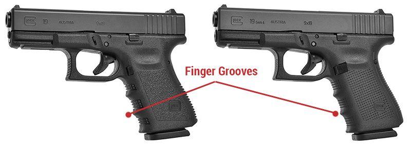 glock finger grooves