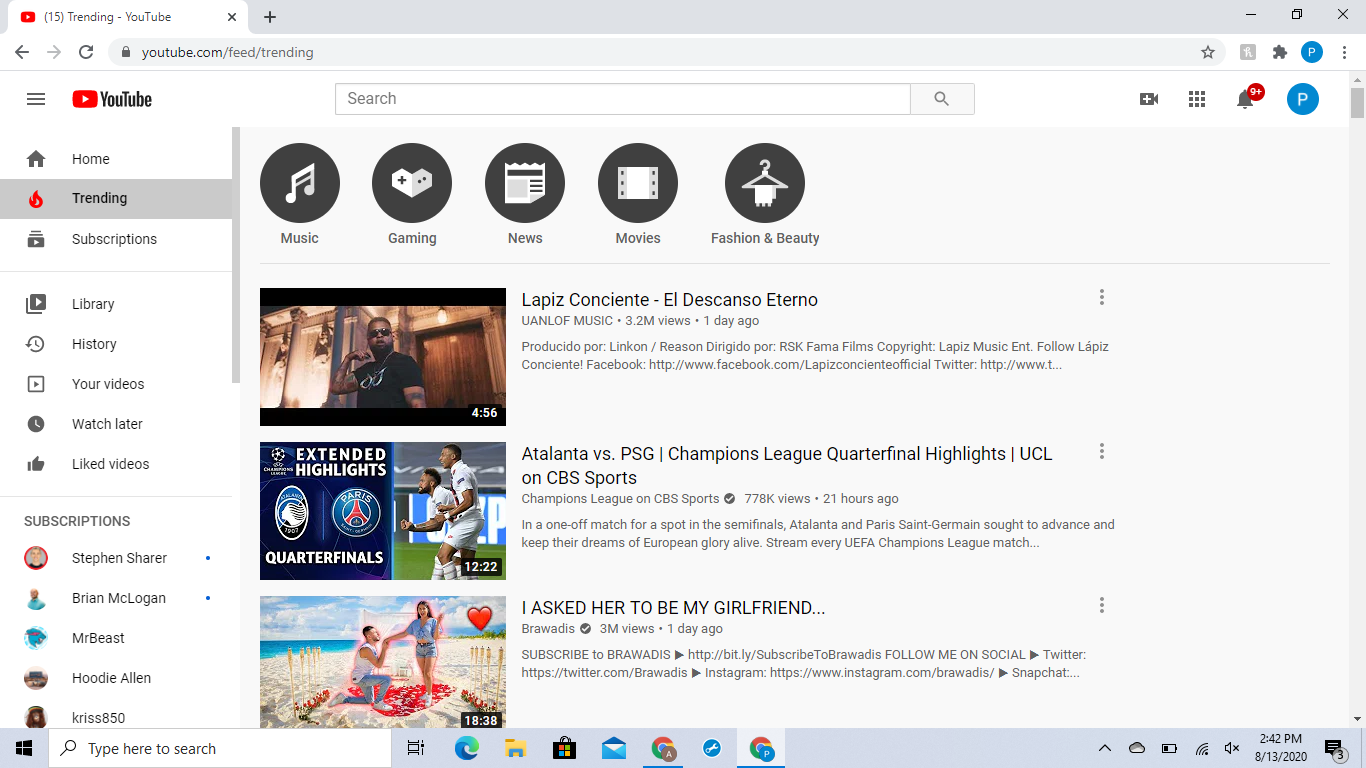 What is trending on YouTube helps you with your YouTube ads