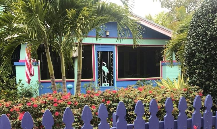 colorful home in the Laurel Park neighborhood of Sarasota, FL