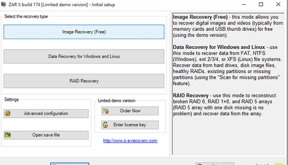Recovery program from the damaged memory and flash drive
