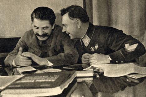 Клим Ворошилов и Иосиф Сталин