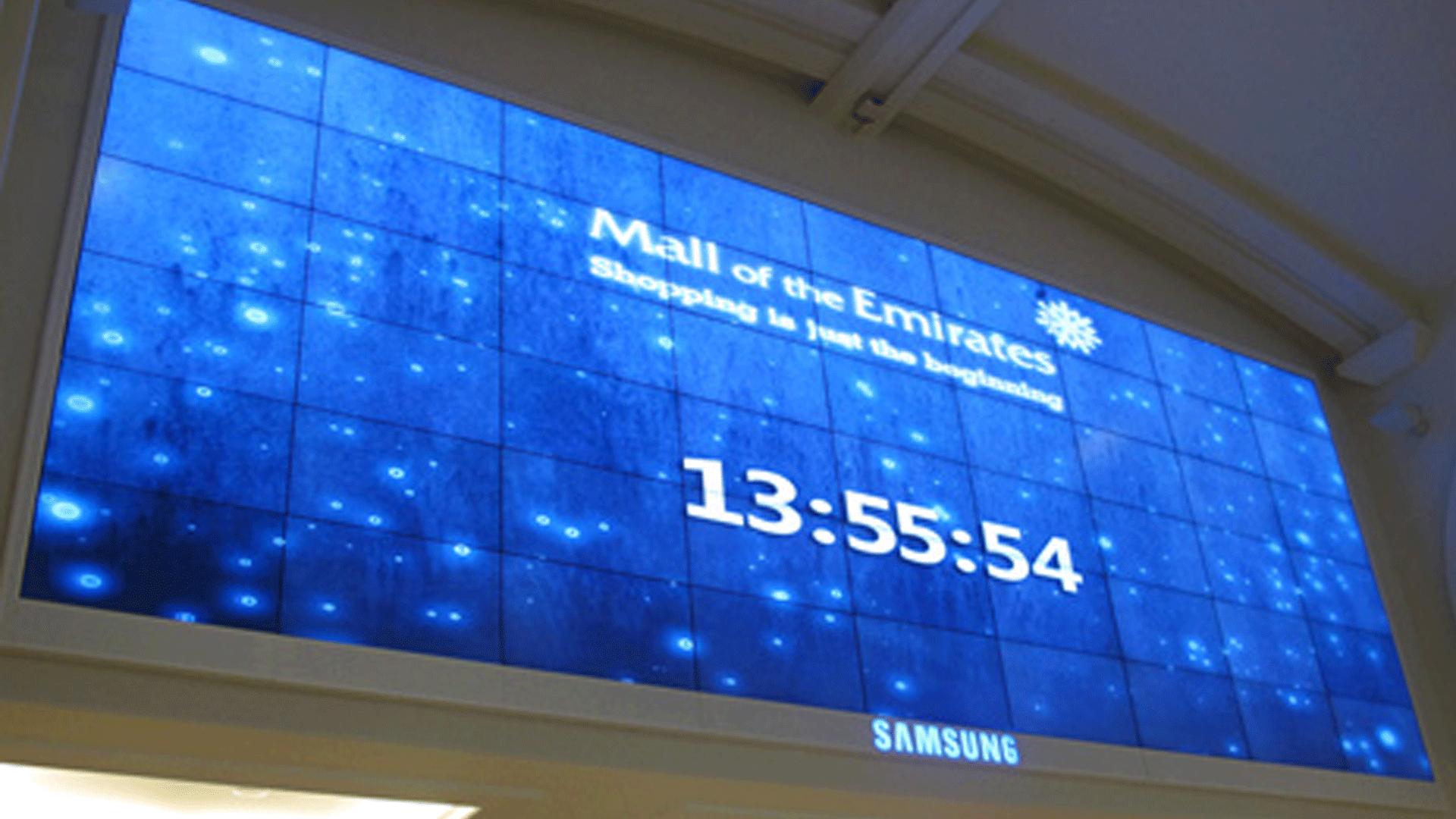 A digital signage video wall. Source: Matrox - Smart Video Wall - Rev Interactive