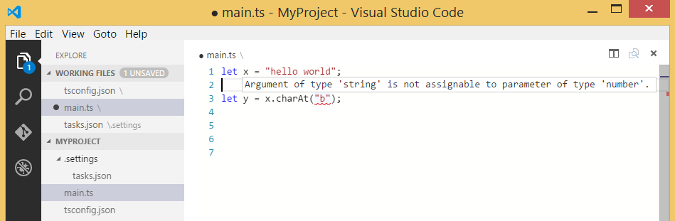 Using TypeScript in Visual Studio Code | TypeScript