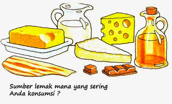 Sumber lemak pada makanan