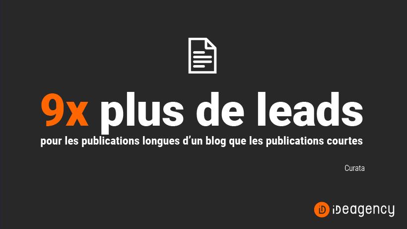 statistique sur les publications longues comparées aux publications courtes