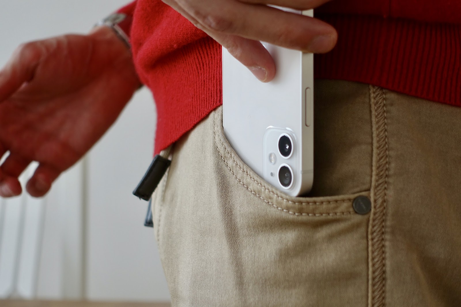 iPhone inside trousers