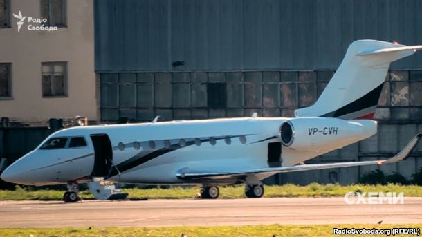 Літак Gulfstream G280, на якому літає Віталій Хомутиннік