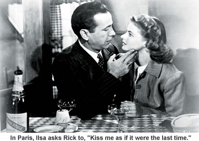 Bogart and Bergman in Paris.